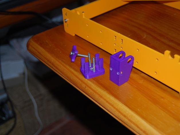 Y轴惰轮支架 3D打印模型渲染图