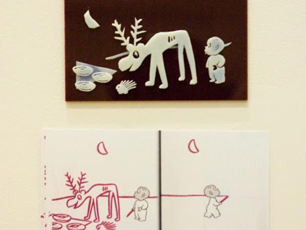 哈罗德和紫色的蜡笔 3D书 3D打印模型渲染图