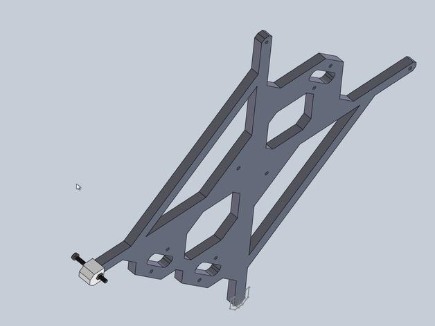 Prusa i3 y轴螺母支架 3D打印模型渲染图