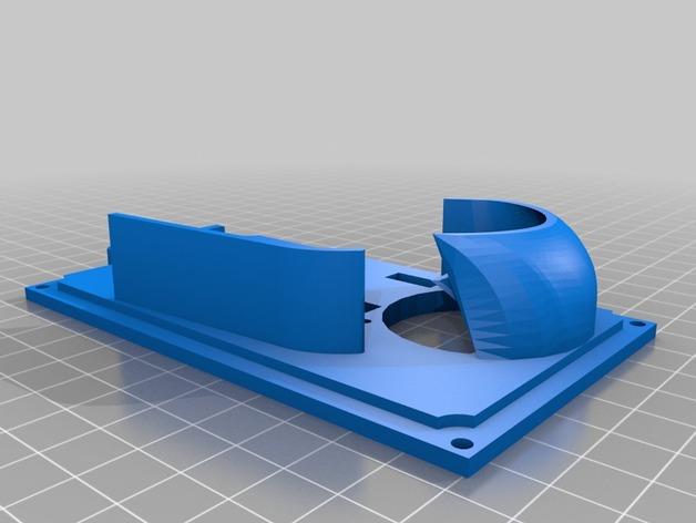 RAMS 1.4/Mega 2560控制器显示屏支架 3D打印模型渲染图