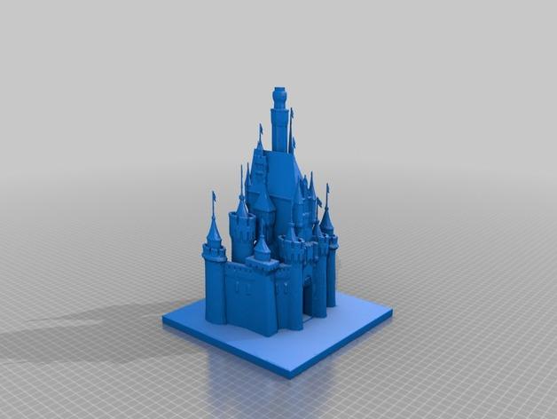 睡美人的城堡 3D打印模型渲染图