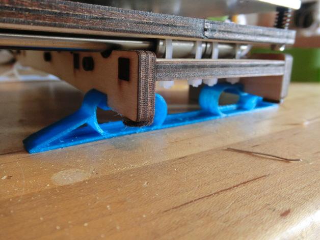 Printrbot打印机的防震动阻尼器 3D打印模型渲染图
