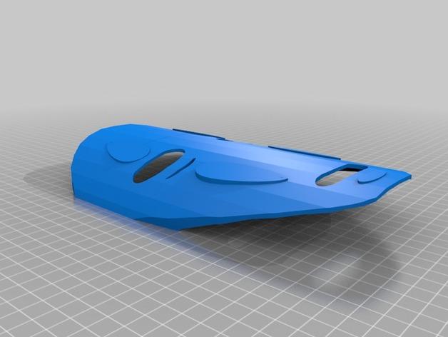 无脸男面具 3D打印模型渲染图