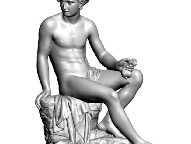 水星雕像 3D打印模型渲染图