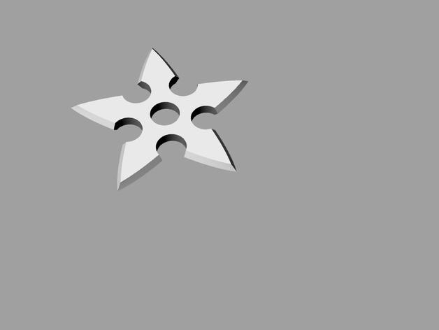 忍者飞镖 3D打印模型渲染图