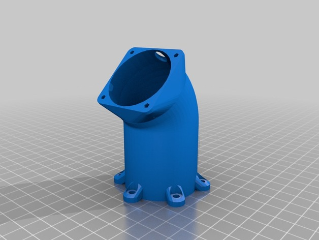 冷却风扇适配器 3D打印模型渲染图