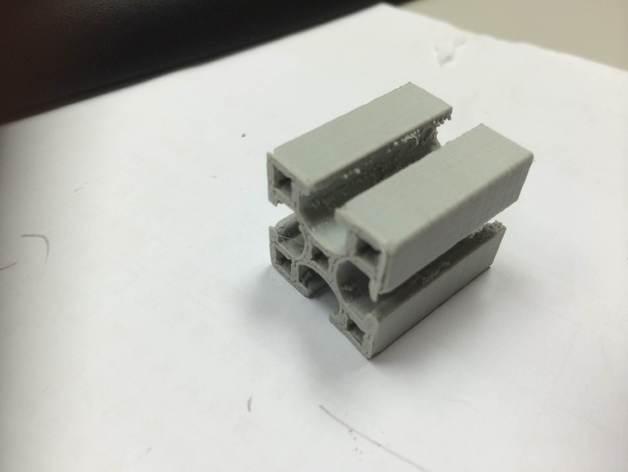 铝梁 3D打印模型渲染图