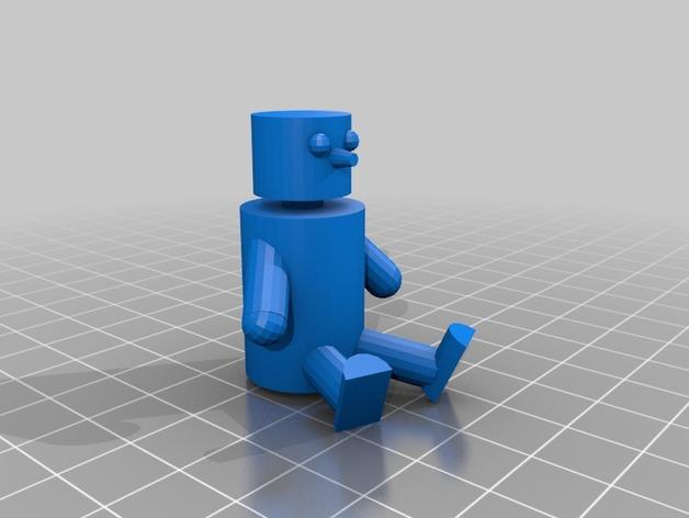 娃娃摆件 3D打印模型渲染图