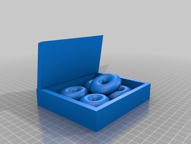 甜甜圈框摆件 3D打印模型渲染图