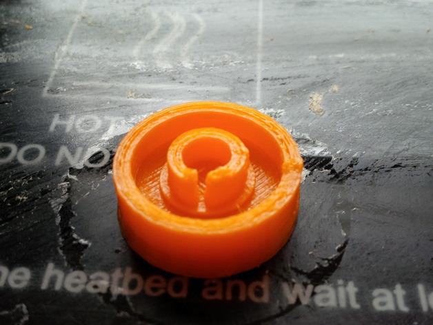 LCD旋钮 3D打印模型渲染图
