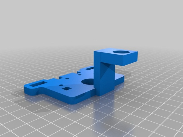Printrbot Plus打印机的调平传感器支架 3D打印模型渲染图