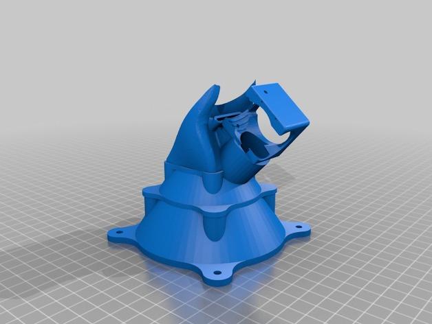 喷头风扇 通风导管 3D打印模型渲染图