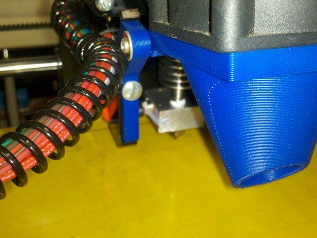 风扇支架 通风导管 3D打印模型渲染图
