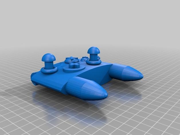 Xbox游戏机手柄 3D打印模型渲染图