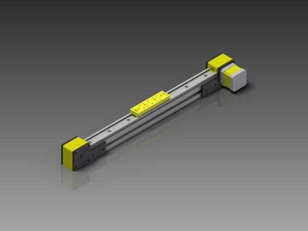 线性致动器/电动推杆/直线运动液压机/线性驱动器 3D打印模型渲染图
