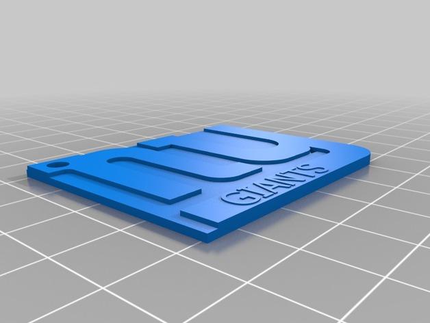 Giants钥匙扣 3D打印模型渲染图