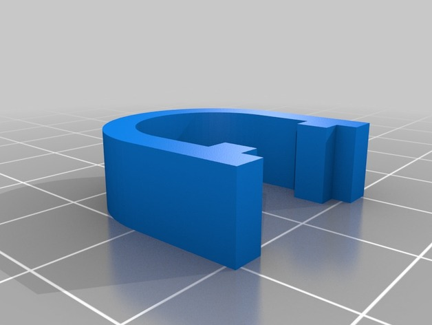 Kossel打印机的电缆夹 3D打印模型渲染图