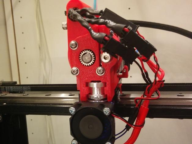 MakerGear M2 打印机的送料器 3D打印模型渲染图
