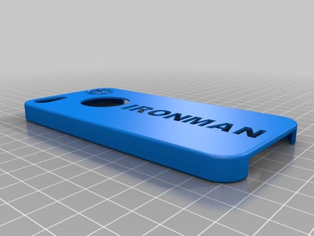 钢铁侠Iphone 5 手机套 3D打印模型渲染图