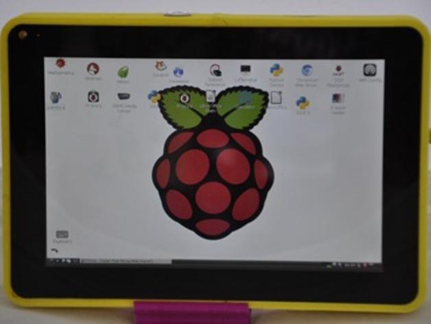 Raspberry pi树莓派平板电脑保护壳 3D打印模型渲染图