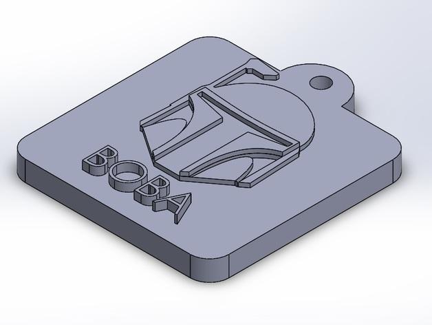 愤怒的小鸟星球大战版 钥匙扣 3D打印模型渲染图