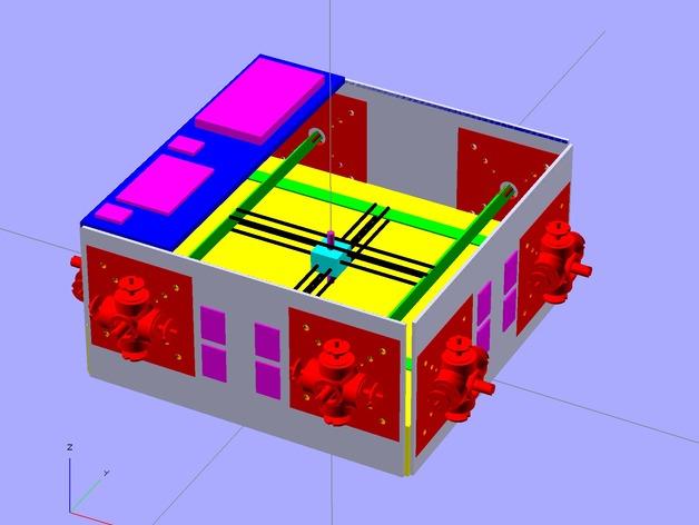 Glass Etching 3D打印机 3D打印模型渲染图