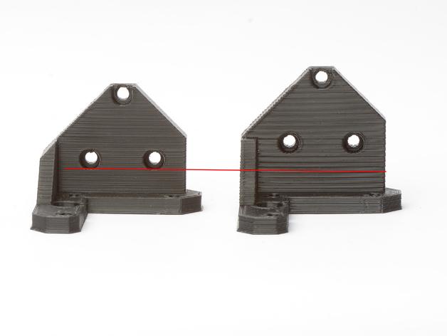 Prusa I3 打印机Z 轴的马达固定器 3D打印模型渲染图