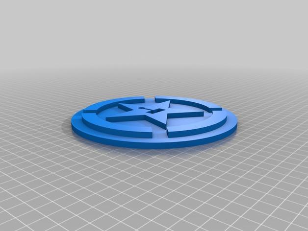 Achievement Hunter标志 3D打印模型渲染图
