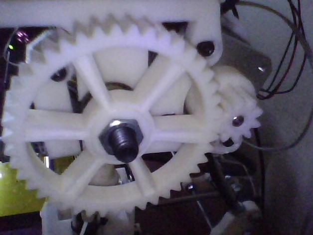 Greg's wade挤出机齿轮 3D打印模型渲染图