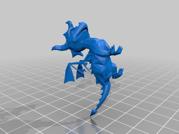 紫色小龙斯派罗 3D打印模型渲染图