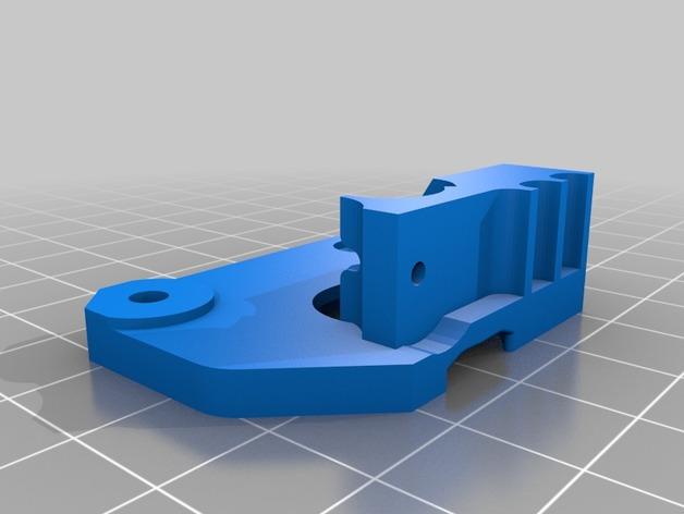 挤出器驱动线丝 3D打印模型渲染图