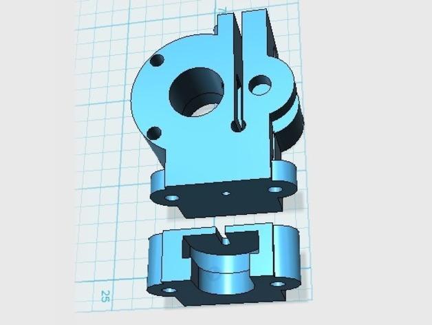驱动分割器 3D打印模型渲染图