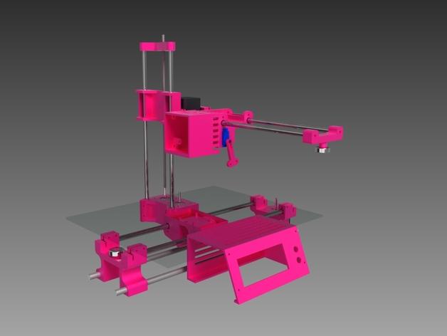 与众不同的Smartrap3d打印机 3D打印模型渲染图