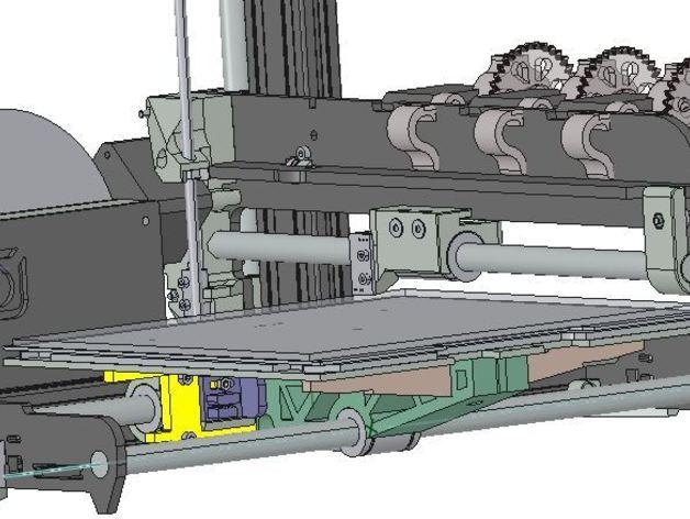3D打印机轴承 3D打印模型渲染图