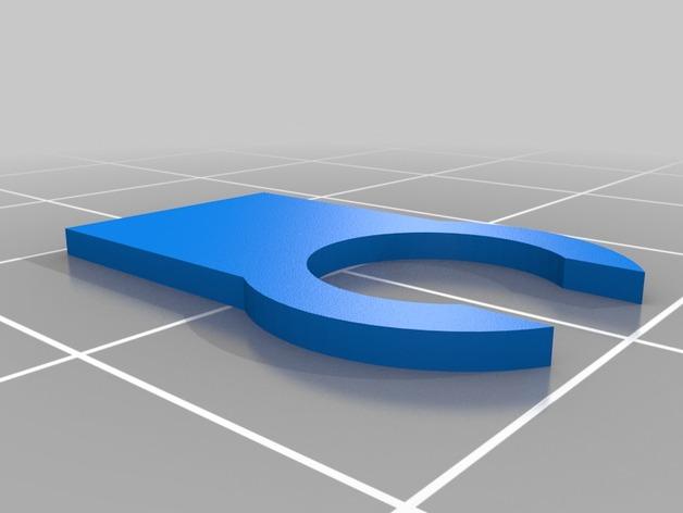 管夹 3D打印模型渲染图