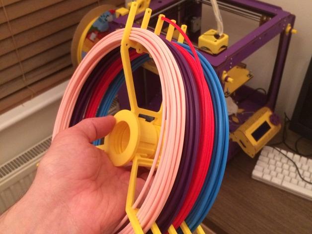 线丝轴 3D打印模型渲染图