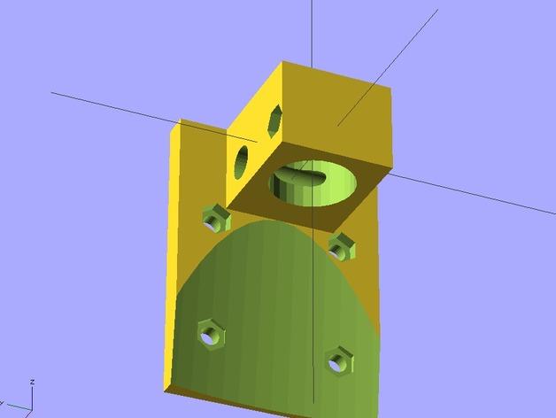 E3D适配器 3D打印模型渲染图