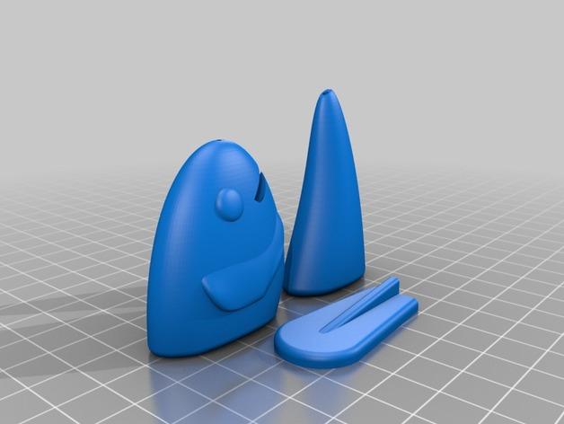 鱼摆件 3D打印模型渲染图