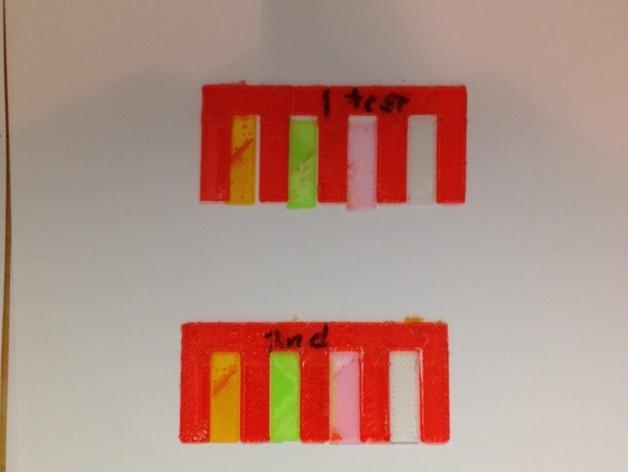 多头校准 3D打印模型渲染图