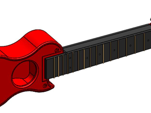 尤克里里 3D打印模型渲染图