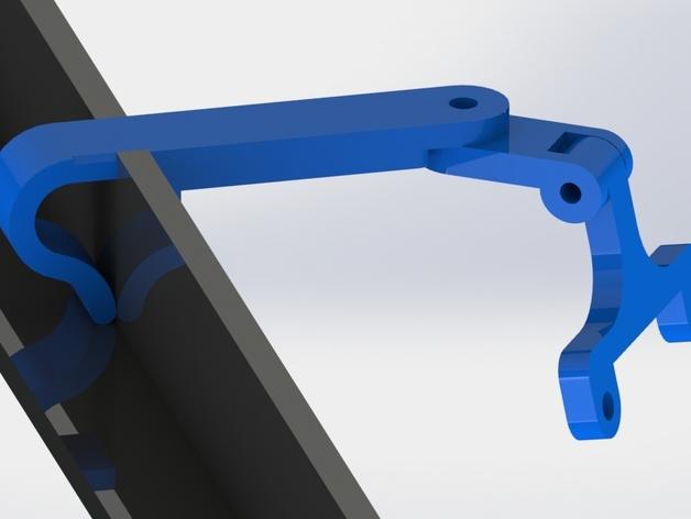 风扇挂载 3D打印模型渲染图