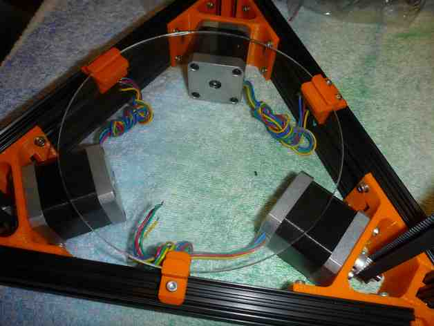 Mini Kossel打印机的玻璃板支撑架
