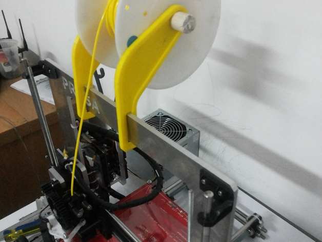 Prusa I3打印机的线材支架 3D打印模型渲染图