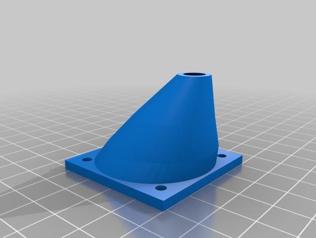 Printrbot Simple打印机的风扇通风导管 3D打印模型渲染图