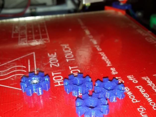 打印床调平器 旋钮 3D打印模型渲染图