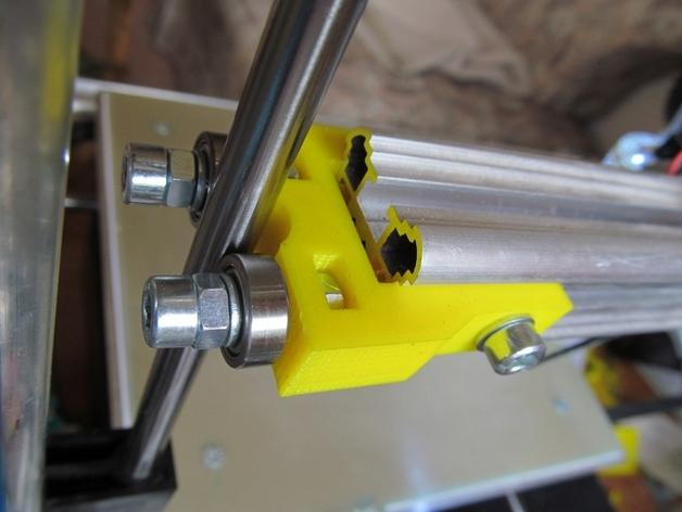K8200打印机Z轴的轴承夹 3D打印模型渲染图