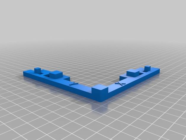 调平校准测试 3D打印模型渲染图