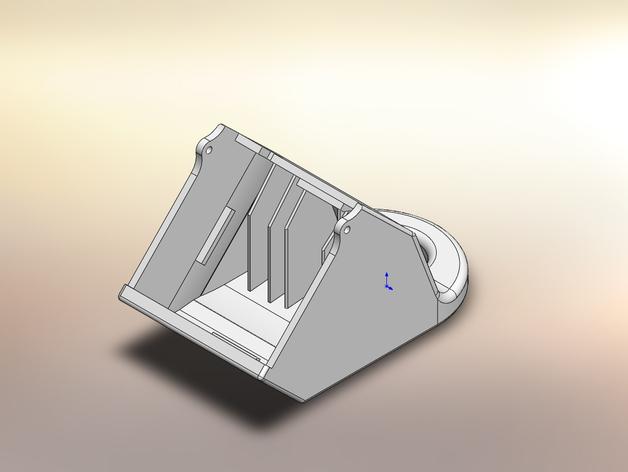 PRINTRBOT PLUS 2.1打印机的风扇导管 3D打印模型渲染图