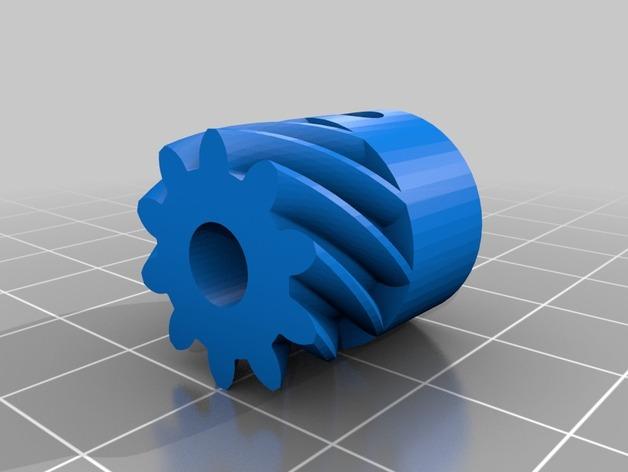 K8200 Velleman 打印机的挤出机斜齿轮