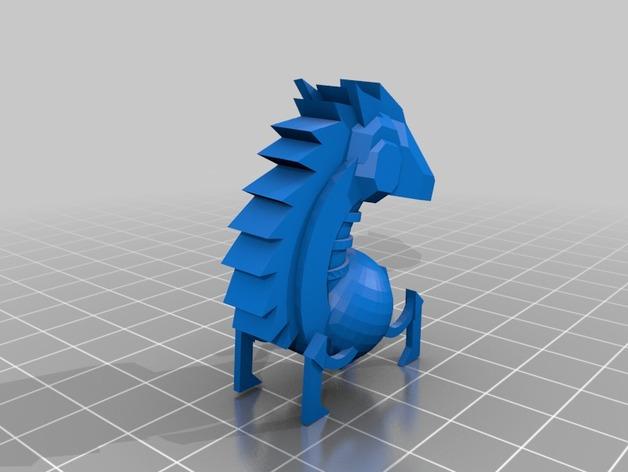 骑士棋子 3D打印模型渲染图